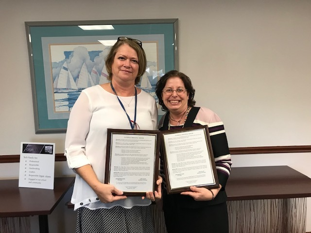 Principal and Assistant Principal Honored