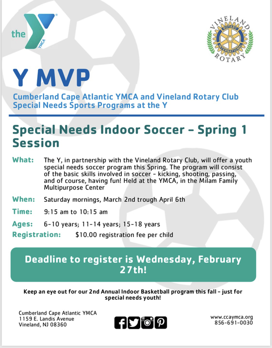 Special Needs Indoor Soccer-Spring 1 Session