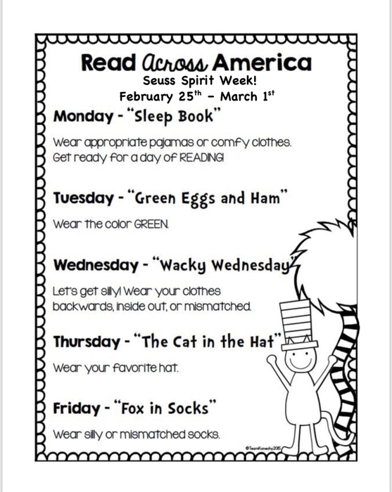 SEUSS SPIRIT WEEK